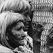 Two Elderly Apache Women Labor Day Rodeo White River Arizona 1969 Art Print