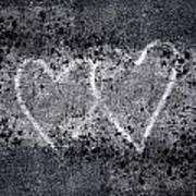 Two Hearts Graffiti Love Art Print