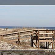 Tybee Island Boardwalks Art Print
