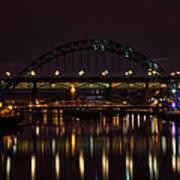 Tyne Bridge At Night Art Print