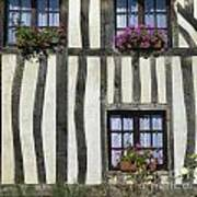 Typical House  Half-timbered In Normandy. France. Europe Art Print