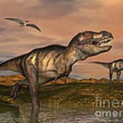Tyrannosaurus Rex Dinosaurs Art Print