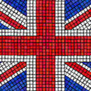 Union Jack Mosaic Art Print by Jane Rix