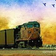 Union Pacific Coal Train Art Print