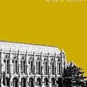 University Of Washington - Suzzallo Library - Gold Art Print