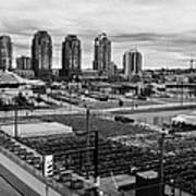 urban farm on unused lot at concord pacific place at false creek Vancouver BC Canada Art Print by Joe Fox