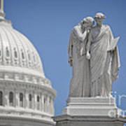Us Capitol Peace Monument Art Print