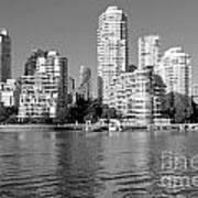 Vancouver Bc Downtown Skyline Art Print