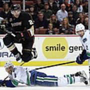 Vancouver Canucks V Anaheim Ducks Art Print