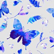Vector Floral Watercolor Texture Art Print