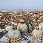 Terracotta Skyline Venice Italy Art Print