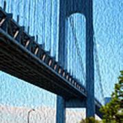 Verrazano Bridge Art Print