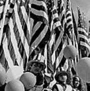 Veteran's Day Parade University Of Arizona Tucson Black And White Art Print
