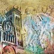 Vezelay Church And Hill Art Print