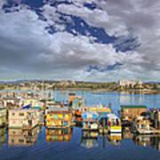 Victoria Bc Fishermans Wharf Art Print