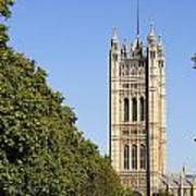 Victoria Tower And The Palace Of Westminster In London England Art Print