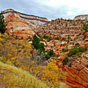 View Along East Side Of Zion-mount Carmel Highway In Zion National Park-utah   Art Print