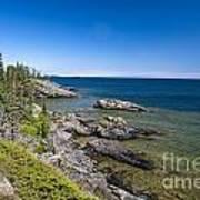 View Of Rock Harbor And Lake Superior Isle Royale National Park Art Print