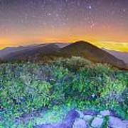 View Of The Appalachians From Craggy Pinnacle Near The Blue Ridg Art Print