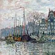 View Of The Prins Hendrikkade And The Kromme Waal In Amsterdam Art Print