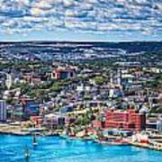 View Of The St. John's Newfoundland From Signal Hill Art Print