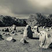 Viking Burial Ground, Lindholm Hoje Art Print