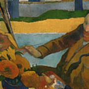 Vincent Van Gogh Painting Sunflowers Art Print