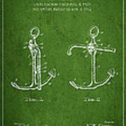 Vintage Anchor Patent Drawing From 1902 Art Print