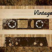 Vintage Cassette Art Print by Sara Ponte
