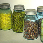 Vintage Kitchen Glass Jar Canning Art Print