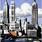 Vintage New York Travel Poster Art Print