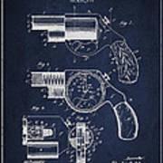 Vintage Pistol Patent From 1892 Art Print