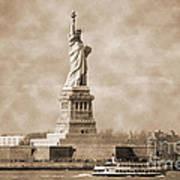 Vintage Statue Of Liberty Art Print