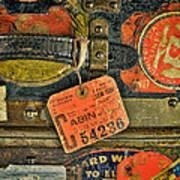 Vintage Steamer Trunk Art Print