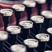 Vintage Typewriter Keys Art Print