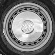 Volkswagen Vw Wheel Emblem Art Print
