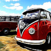 Vw Micro Bus Art Print