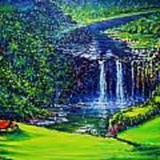 Waimea Falls  Art Print by Joseph   Ruff