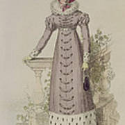 Walking Dress, Fashion Plate Art Print