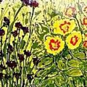 Walls Of Heavenly Flowers Art Print