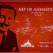 Walt Disney Patent From 1936 Art Print by Aged Pixel