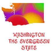 Washington State Map Collection 2 Art Print