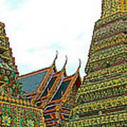 Wat Po In Bangkok-thailand Art Print