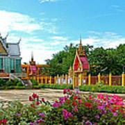 Wat Tha Sung Temple In Uthaithani-thailand Art Print
