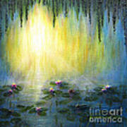 Water Lilies At Sunrise Art Print