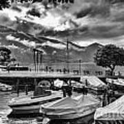 Waterfront At Ascona Art Print