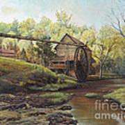 Watermill At Daybreak  Art Print