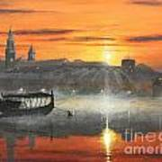 Wawel Sunrise Krakow Art Print