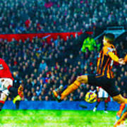 Wayne Rooney Of Manchester United Scores Their Second Goal Art Print