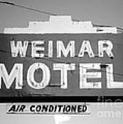 Weimar Motel Sign Art Print